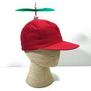 Vintage Unisex 100% Wool Red Spinner Baseball Cap
